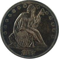 1857 50C LIBERTY SEATED HALF DOLLAR MAYBE A PROOF,LOOKS UNCIRCULATED PLEASE VIEW