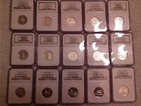1999 S DELAWARE TO 2008 S 2009 TO 2013 S SILVER STATE &TERRITORIES NGC PF70 UCAM