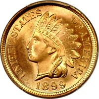1899 1C INDIAN CENT PCGS MS65RD PHOTO SEAL 863