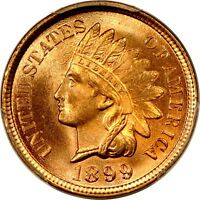 1899 1C INDIAN CENT PCGS MS65RD PHOTO SEAL 866