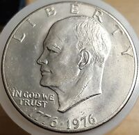 1976 PRESIDENT EISENHOWER APOLLO 11 MOON LANDING DOLLAR USA COIN