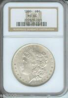 1880 1880 P MORGAN SILVER DOLLAR S$1 NGC MS64 MS 64 BETTER DATE OLDER HOLDER