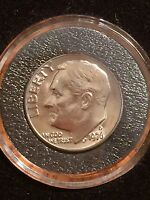 1976 D ROOSEVELT DIME BU UNC UNCIRCULATED FROM MINT SET IN AIR TITE HOLDER
