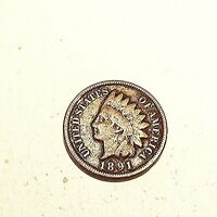 1891 US INDIAN HEAD ONE CENT  CIRCULATED