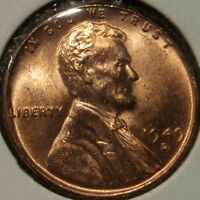 1949 D LINCOLN CENT NICE COIN BU UNC MS M12 30
