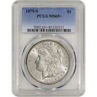 1879-S US MORGAN SILVER DOLLAR $1 - PCGS MINT STATE 65 PLUS GRADE