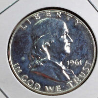 PROOF 1961 FRANKLIN SILVER HALF DOLLAR  COIN