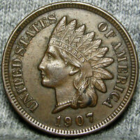 1907 INDIAN CENT US PENNY           X393