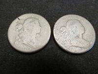 PAIR OF 1800 & 1802 DRAPED BUST LARGE CENTS    SUPER AFFORDABLE EARLY COINS