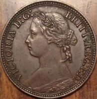 1880 UK GREAT BRITAIN FARTHING A SUPERB HG EXAMPLE COLLECTABLE