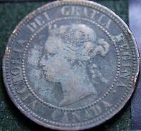 431 1876H CANADIAN COINS LARGE CENT QUEEN VICTORIA