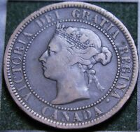 568 1888 CANADIAN COINS LARGE CENT QUEEN VICTORIA