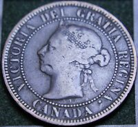 575 1888 CANADIAN COINS LARGE CENT QUEEN VICTORIA