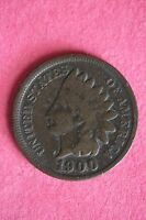 1900 INDIAN HEAD CENT PENNY NICE DETAILS FLAT RATE SHIPPING COIN 0485