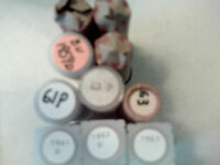 10 UNCIRCULATED ROLLS OF  LINCOLN CENTS. 1959 P AND D PLUS 1960 P TO 1963 D.