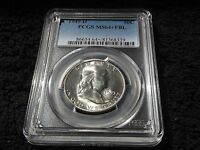 1949 D FRANKLIN HALF DOLLAR PCGS  MS64  FBL NICE  WHITE COIN