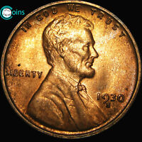 1930-S LINCOLN CENT BU WHEAT CENT GEM BU CONDITION A775