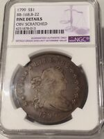 COLLECTIBLE   1799 P DRAPED BUST $1: NORMAL DATE 7X6 STARS OBVERSE / W/BERRIES