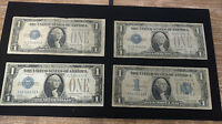 LOT OF 4 $1 DOLLAR FUNNY BACK SILVER CERTIFICATES