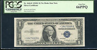 FR. 1616 1935 G $1 ONE DOLLAR STAR SILVER CERTIFICATE PCGS GEM NEW 66PPQ