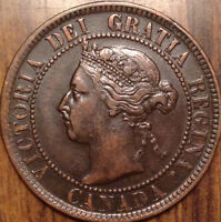 1897 CANADA LARGE CENT SUPERB TOP HIGH GRADE BEAUTY DIE BREAK ON