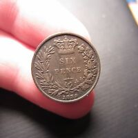 1839 GREAT BRITAIN SIX PENCE VICTORIA