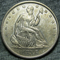 1856 SEATED LIBERTY HALF DOLLAR    STUNNING TYPE COIN    O889