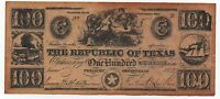 THE REPUBLIC OF TEXAS 100 DOLLARS COPY FAKE NOTE LOOK SCANS