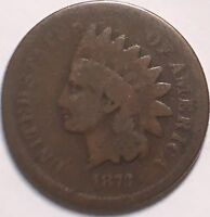 1873 CLOSED 3 INDIAN HEAD CENT TOUGH DATE LOW GRADE
