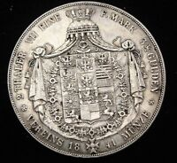 1841 PRUSSIA 2 THALER SILVER COIN LOOKS VF/XF KM 440.1