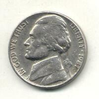 U.S.A JEFFERSON 5 CENTS 1981 P