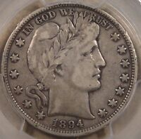 1894 BARBER HALF DOLLAR PCGS VF20