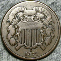 1871 TWO CENT PIECE TYPE COIN       ----    ---- Z874