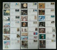 US FDC COLLECTION OF 22 DIFFERENT 1975-1976 COLORANO SILK FIRST DAY COVERS