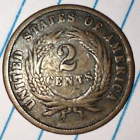1865 2C TWO CENT PIECE  NICE