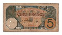 FRENCH WEST AFRICA 5 FRANCS 1932 PICK 5 BF LOOK SCANS