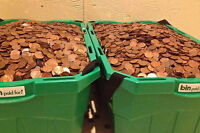 2500 PRE 1996 CANADIAN COPPER PENNIES 98  PURE COPPER BULLION $25.00 FACE VALUE