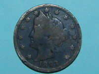 1893 LIBERTY NICKEL DARK COIN  J-749