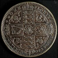 NARKYPOON'S LY HIGH GRADE 1849 VICTORIA STERLING SILVER GODLESS FLORIN