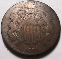 1871 TWO CENT PIECE  TOUGH DATE IN SERIES