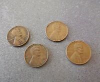 1944 P LINCOLN ONE CENT WHEATBACK US PENNY 95 COPPER CIRCULATED 4 COINS