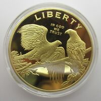 BRASS CRAFT EXQUISITE AMERICAN EAGLE GOLD COINS PATRIOT LIBERTY COIN COLLECTIONS