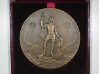 300TH ANNIVERSARY OF THE FOUNDING OF QUEBEC MEDAL BY DUBOIS W/ ORIGINAL BOX