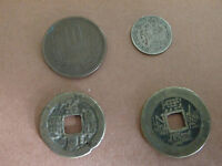 2 CHINA QING DYNASTY COINS FROM 1700'S & 1800'S 1902 CEYLON 10 CENT CHINA 10 Y