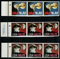US USA 1983 1985 EAGLE AND MOON EXPRESS MAIL 3 BOOKLET OF 3 MNH  OFFER