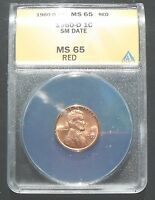 1960 D LINCOLN SD PENNY ANACS MS65 RD PRICED TO SELL