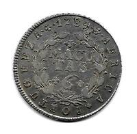 ANGOLA 6 MACUTAS SILVER 1784 BETTER FINE OLD PORTUGUESE COLONY