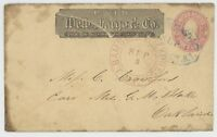 MR FANCY CANCEL 3C WELLS FARGO IMPRINT NEVADA TERR OVAL  BAMBERS EXPRESS DCDS
