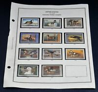 LOT OF 11 US FEDERAL DUCK HUNTING PERMIT STAMPS $15 RW64 TO RW74 MNH