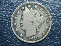 1911 LIBERTY NICKEL  COIN   2258
